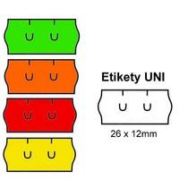 Cenové etikety UNI 26x12 mm