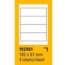 Etikety na archu SOREX - A4, 192 x 61mm, 400 etiket