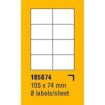 Etikety na archu SOREX - A4, 105 x 74mm, 800 etiket