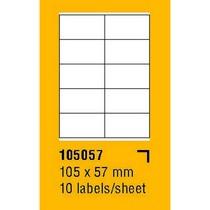 Etikety na archu SOREX - A4, 105 x 57mm, 1000 etiket