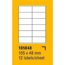 Etikety na archu SOREX - A4, 105 x 48mm, 1200 etiket