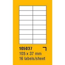 Etikety na archu SOREX - A4, 105 x 37mm, 1600 etiket