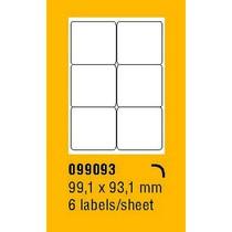 Etikety na archu SOREX - A4, 99,1 x 93,1mm, 600 etiket