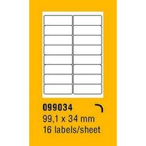 Etikety na archu SOREX - A4, 99,1 x 34mm, 1600 etiket