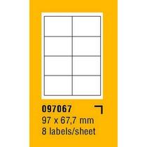 Etikety na archu SOREX - A4, 97 x 67,7mm, 800 etiket