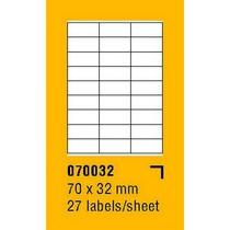 Etikety na archu SOREX - A4, 70 x 32mm, 2700 etiket