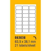 Etikety na archu SOREX - A4, 63,5 x 38,1mm, 2100 etiket