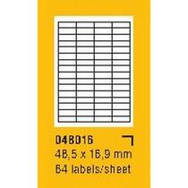 Etikety na archu SOREX - A4, 48,5 x 16,9mm, 6400 etiket