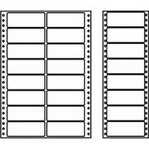 Etikety s vodící perforací - 2 řady, 90x36mm, 8000 etiket