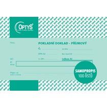 Příjmový doklad s DPH A6, jednoduchý, samopropisovací, 100 listů