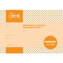 Výdajový doklad A6, jednoduchý, samopropisovací, 100 listů