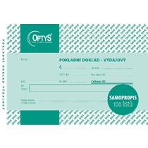 Výdajový doklad s DPH A6, jednoduchý, samopropisovací, 100 listů