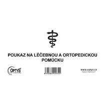 Poukaz na léčebnou a ortoped. pomůcku, 21 x 10 cm, 50 listů