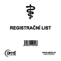 Registrační list, samopropisovací, 2 x 25 listů
