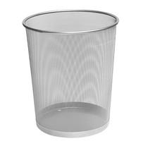 Kovový odpadkový koš CONCORDE, velký, stříbrný 19 l
