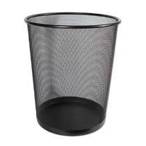 Kovový odpadkový koš CONCORDE, velký, černý 19 l
