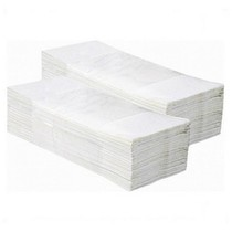 Papírové ručníky skládané Z-Z - 2 vrstvy, bílé recykl, 3000ks