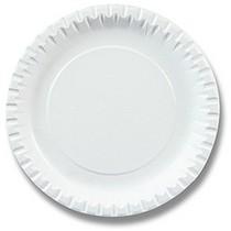 Papírový talíř - průměr 15 cm, 100 ks