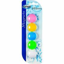 Magnety barevné - 5ks, průměr 35mm