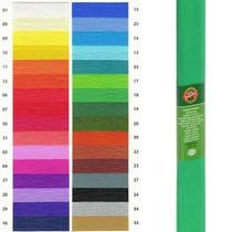 Krepový papír KOH-I-NOOR 9755 - 18, středně zelený