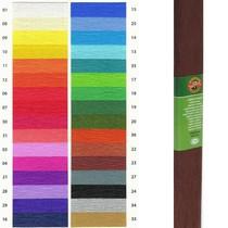 Krepový papír KOH-I-NOOR 9755 - 23, tmavě hnědý, 10ks
