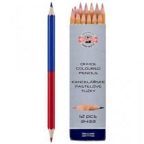 Tužka barevná kancelářská 3433 červeno modrá
