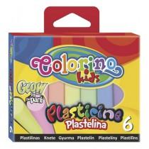 Modelína Colorino 6 barev - svítí ve tmě