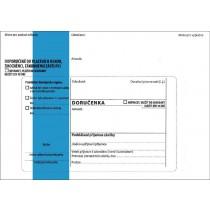 DORUČENKA modrá B6, správní řád